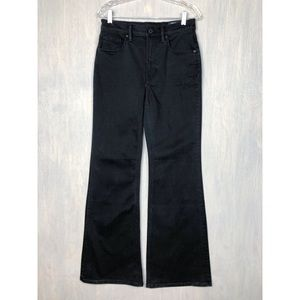 Vince wide leg flare jeans black high rise 29